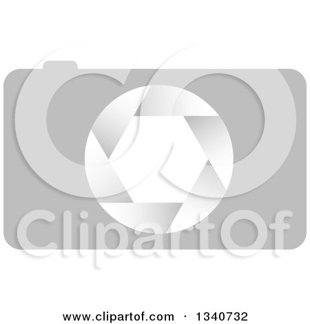 Clipart of a Grayscale Camera - Royalty Free Vector Illustration by ColorMagic