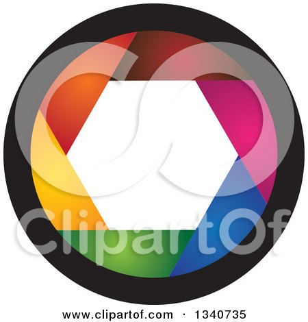 Clipart of a Colorful Camera Shutter Lens - Royalty Free Vector Illustration by ColorMagic