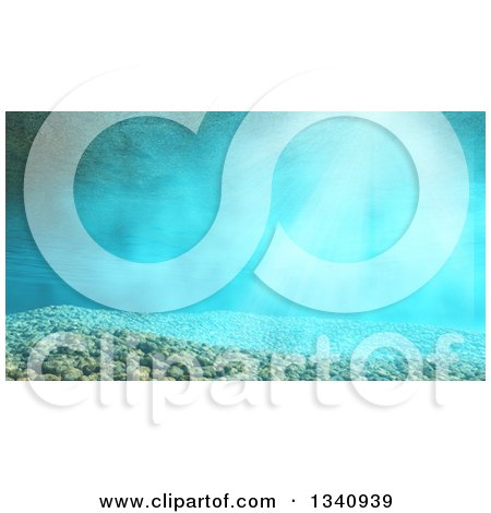 Clipart of a 3d Underwater Scene with Pebbles - Royalty Free Illustration by KJ Pargeter
