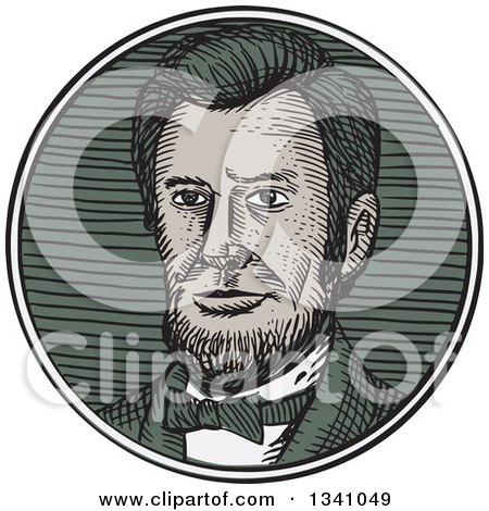 Clipart of a Retro Sketched or Engraved Victorian Gentleman with a Goatee - Royalty Free Vector Illustration by patrimonio