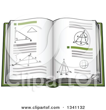Clipart of a Cartoon Geometry Math Book - Royalty Free Vector Illustration by Vector Tradition SM