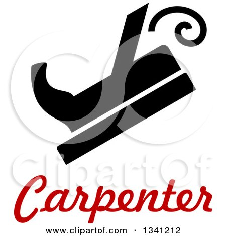 Clipart of a Sketched Carpenter and Tools - Royalty Free Vector ...