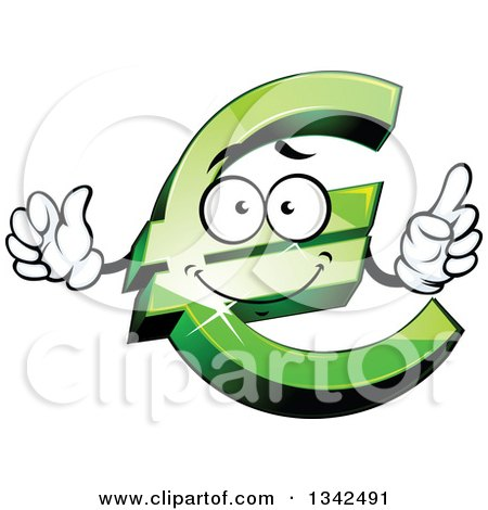 Royalty Free Rf Clipart Illustration Of A Strong Blue Euro Symbol
