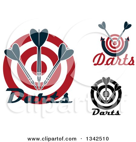 Clipart of Targets with Darts and Text - Royalty Free Vector Illustration by Vector Tradition SM