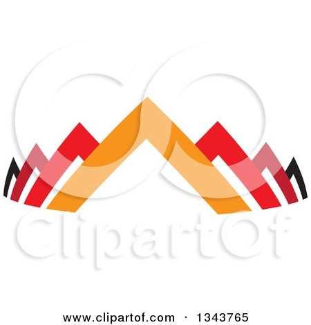 Clipart of Colorful Pyramids or Roof Tops - Royalty Free Vector Illustration by ColorMagic