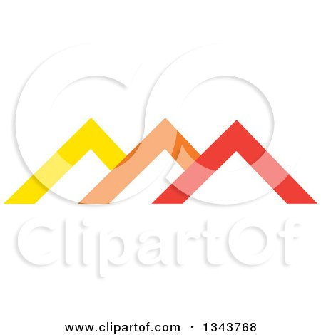 Clipart of Colorful Pyramids or Roof Tops 2 - Royalty Free Vector Illustration by ColorMagic