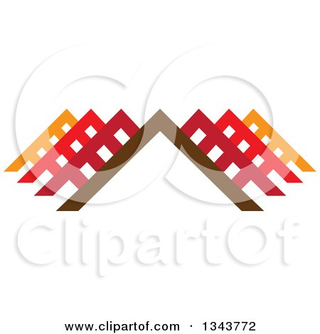 Clipart of Colorful Pyramids or Roof Tops 3 - Royalty Free Vector Illustration by ColorMagic