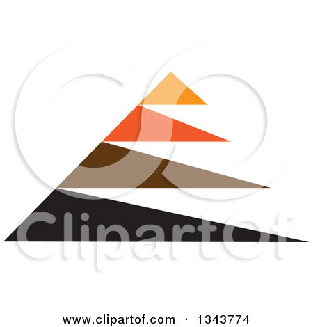 Clipart of an Abstract Pyramid - Royalty Free Vector Illustration by ColorMagic