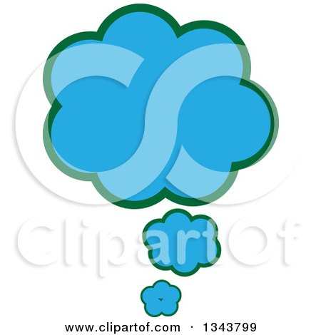 Clipart of a Blue Speech or Thought Balloon Chat App Icon Design Element - Royalty Free Vector Illustration by ColorMagic