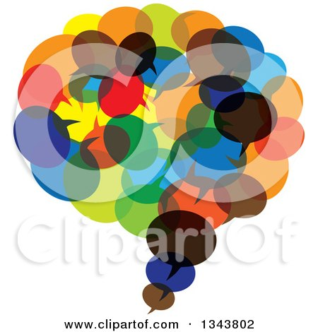 Clipart of a Speech Balloon Chat App Icon Design Element Made of Colorful Bubbles - Royalty Free Vector Illustration by ColorMagic