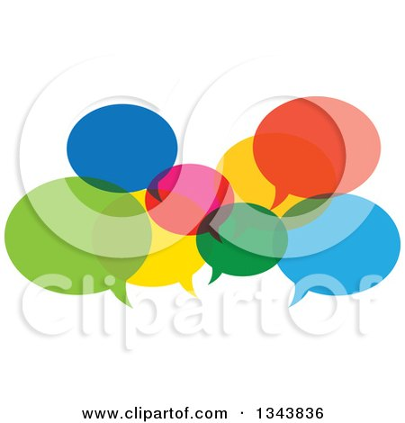 Clipart of Colorful Speech Balloons 3 - Royalty Free Vector Illustration by ColorMagic
