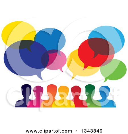 Royalty-Free (RF) Talking Clipart, Illustrations, Vector Graphics #1