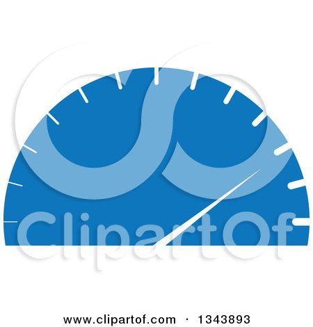 Clipart of a Blue and White Car Spedometer - Royalty Free Vector Illustration by ColorMagic