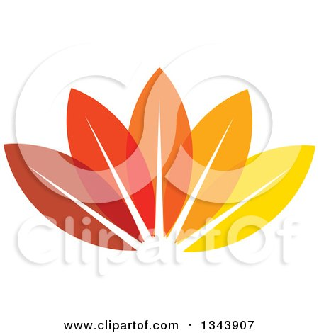 Clipart of Colorful Autumn Leaves - Royalty Free Vector Illustration by ColorMagic