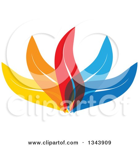 Clipart of Colorful Leaves 3 - Royalty Free Vector Illustration by ColorMagic