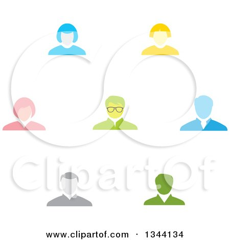 Clipart of Business Men and Women Avatars - Royalty Free Vector Illustration by ColorMagic