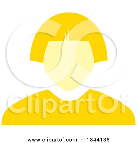 Clipart of a Yellow Business Woman Avatar - Royalty Free Vector Illustration by ColorMagic