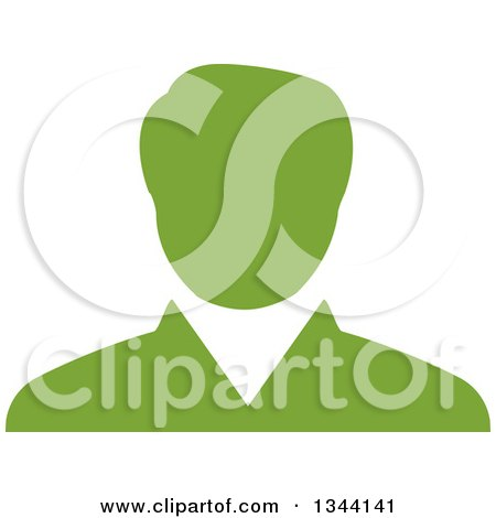Clipart of a Green Businessman Avatar - Royalty Free Vector Illustration by ColorMagic
