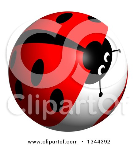 Clipart of a Ladybug Sphere - Royalty Free Illustration by oboy