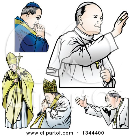 Clipart of Popes - Royalty Free Vector Illustration by dero