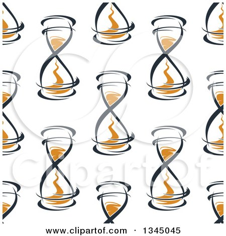 Clipart of a Seamless Pattern Background of Hourglasses 5 - Royalty Free Vector Illustration by Vector Tradition SM
