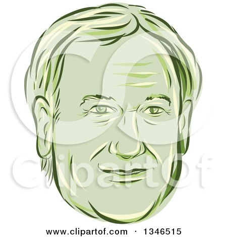 Clipart of a Retro Styled Face of Lincoln Chaffee, 2016 Presidential Candidate - Royalty Free Vector Illustration by patrimonio