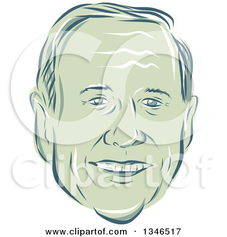 Clipart of a Retro Styled Face of Martin O'Malley, 2016 Presidential Candidate - Royalty Free Vector Illustration by patrimonio
