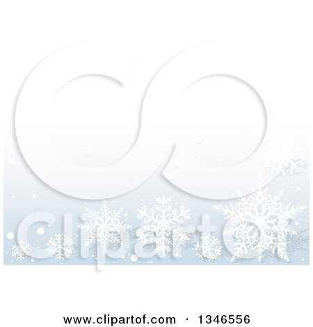 Clipart of a Pastel Blue Background with Snowflakes - Royalty Free Vector Illustration by dero