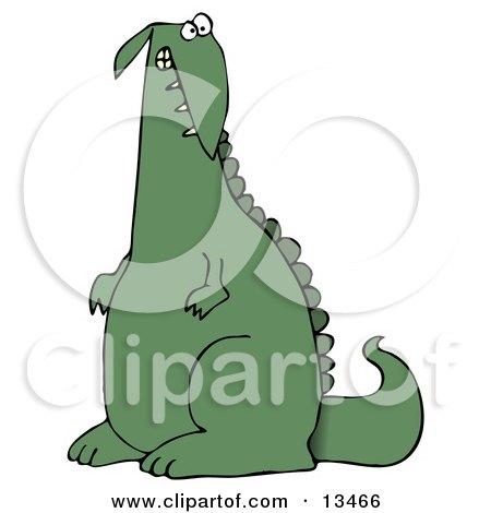 Guilty Green Dino Clipart Illustration by djart