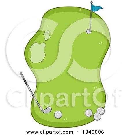 Golf ball mascot cartoon character holding a dollar bill for Fish food golf balls