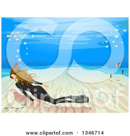 Clipart of a royalty free vector illustration by bnp for Pool koi goggles