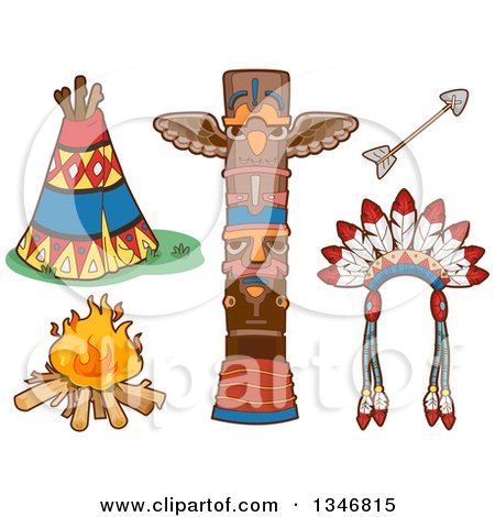 Royalty Free Stock Illustrations of Native Americans by BNP Design ...