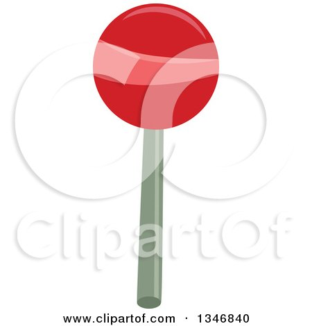 Clipart of a Red and Pink Sucker Lolipop - Royalty Free Vector Illustration by BNP Design Studio