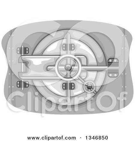 Clipart of a Secured Bank Vault - Royalty Free Vector Illustration by BNP Design Studio