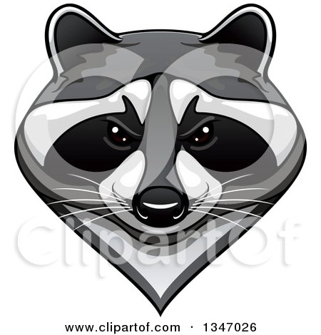 Royalty-Free (RF) Clip Art Illustration of a Cartoon Black ... Raccoon Face Clip Art