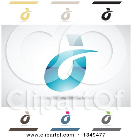 Clipart abstract letter d icons with shadows 2 royalty for D for design