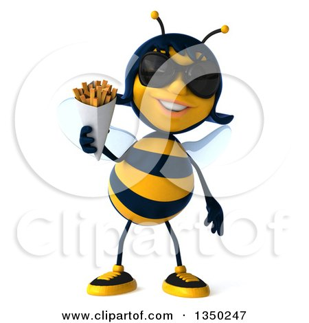 Royalty Free RF Female Bee Clipart Illustrations Vector