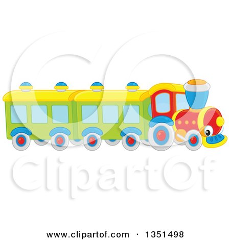 Clipart Of A Toy Train Character Royalty Free Vector Illustration
