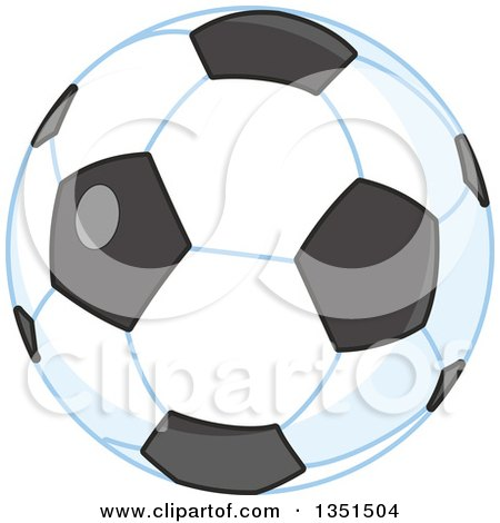 Clipart of a Shiny Soccer Ball - Royalty Free Vector Illustration by Alex Bannykh