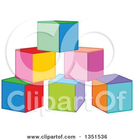 Clipart of Colorful Toy Blocks - Royalty Free Vector Illustration by Alex Bannykh