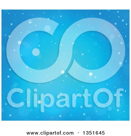 Clipart of a Blue Snowy Winter Christmas Background - Royalty Free Vector Illustration by visekart