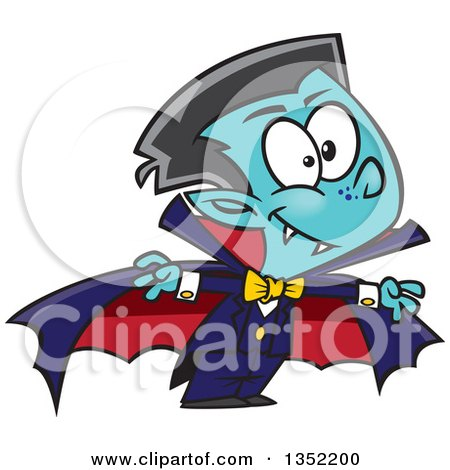 Cartoon Halloween Vampire Boy Posters, Art Prints
