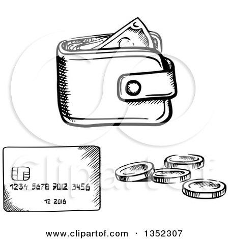 royaltyfree rf wallet clipart illustrations vector