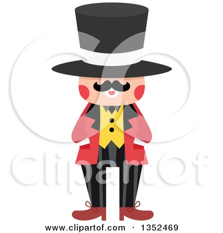 Clipart of a Male Magician in a Top Hat - Royalty Free Vector Illustration by BNP Design Studio