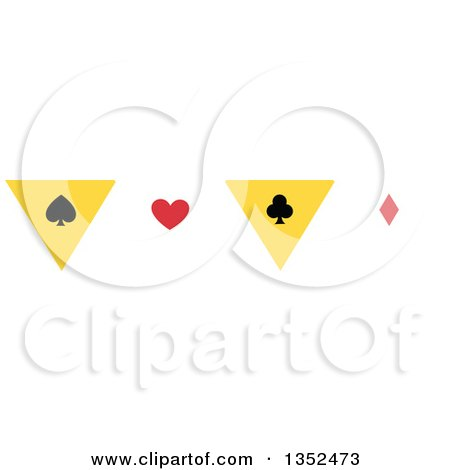 Clipart of a Magic Spade, Heart, Club and Diamond Border - Royalty Free Vector Illustration by BNP Design Studio