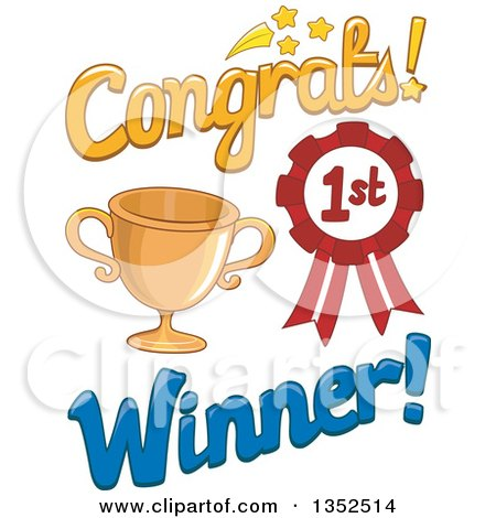 Clipart Of Colorful Congratulations Text Royalty Free