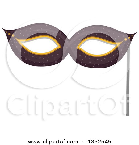 Clipart of a Photo Booth Prop Eye Mask - Royalty Free Vector Illustration by BNP Design Studio
