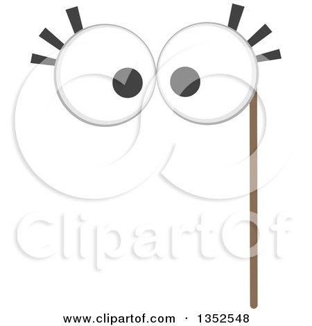 Clipart of a Photo Booth Big Eyes Prop - Royalty Free Vector Illustration by BNP Design Studio