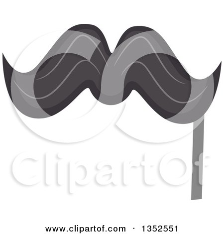 Clipart of a Photo Booth Mustache Prop - Royalty Free Vector Illustration by BNP Design Studio