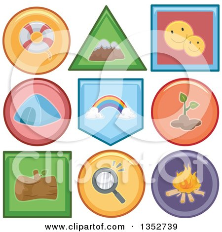 Clipart of Recreation Icon Buttons - Royalty Free Vector Illustration by BNP Design Studio